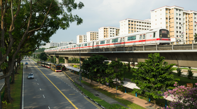 E1001 Eastern Region Line (ERL) - 4 In 1 Depot And Mrt Stations (Pedestrian And Traffic Advisory / Construction Stage)